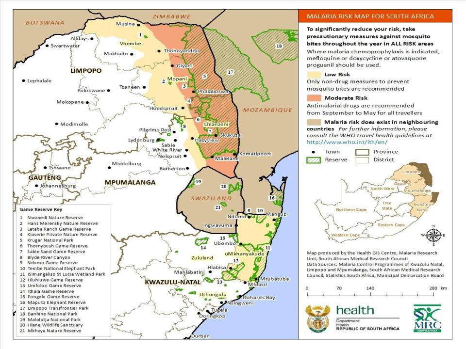Malariae Malaria Map The National Malaria Risk Map